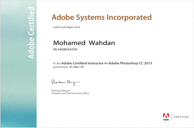 2-certificates-of-adobe-certified-instructor-linked-to-mr-mohamed-magdy-wahdan